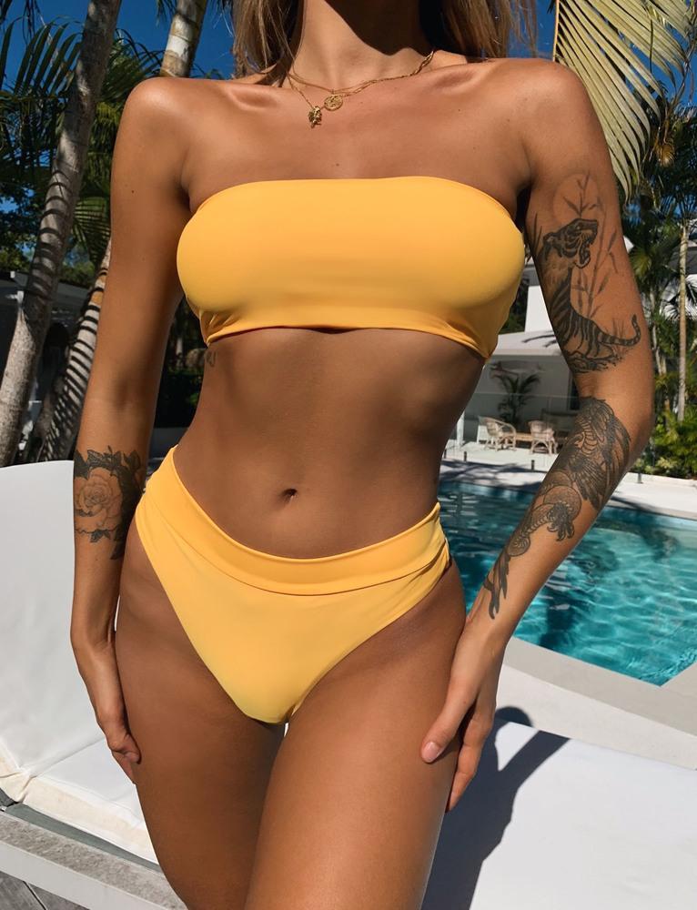 Cabo Bikini Top - Golden - S GOLD