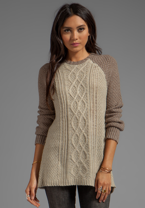 HEARTLOOM Sand Pull Over Sweater in Sand - heartLoom