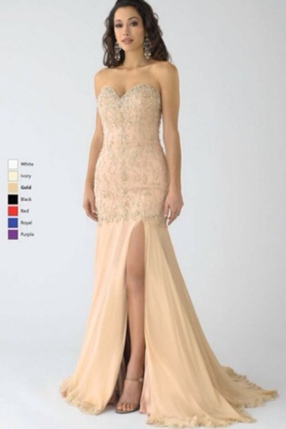 b87fbab052f7 dress champagne dress prom dress long prom dress prom dress prom dress  champaign nude prom mermaid