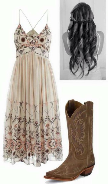 dress country style hairstyles