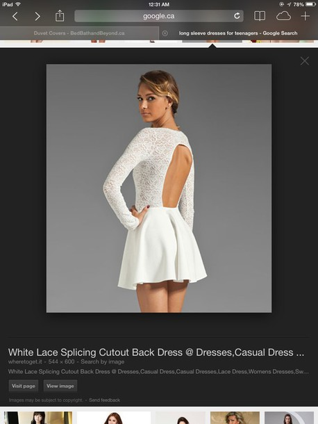 dress white dress open back dresses