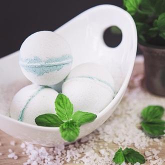 home accessory bath bomb pedicure mint