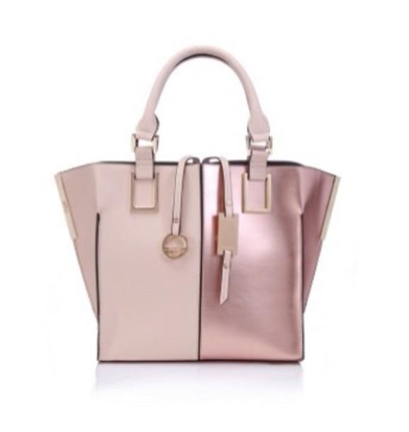 bag pink dress metallic shiny girly pretty handbag love dusty pink
