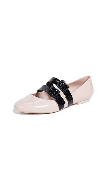 flats black pink shoes