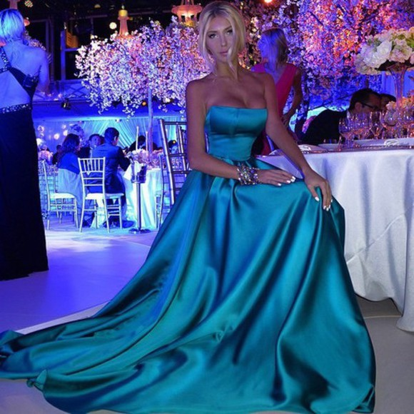 dress prom dress long dress blue dress