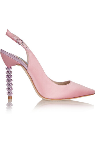 pumps satin pastel pink pastel pink shoes