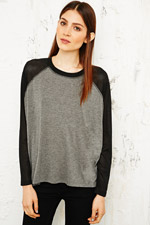 Sparkle & Fade Airtex Raglan Top at Urban Outfitters