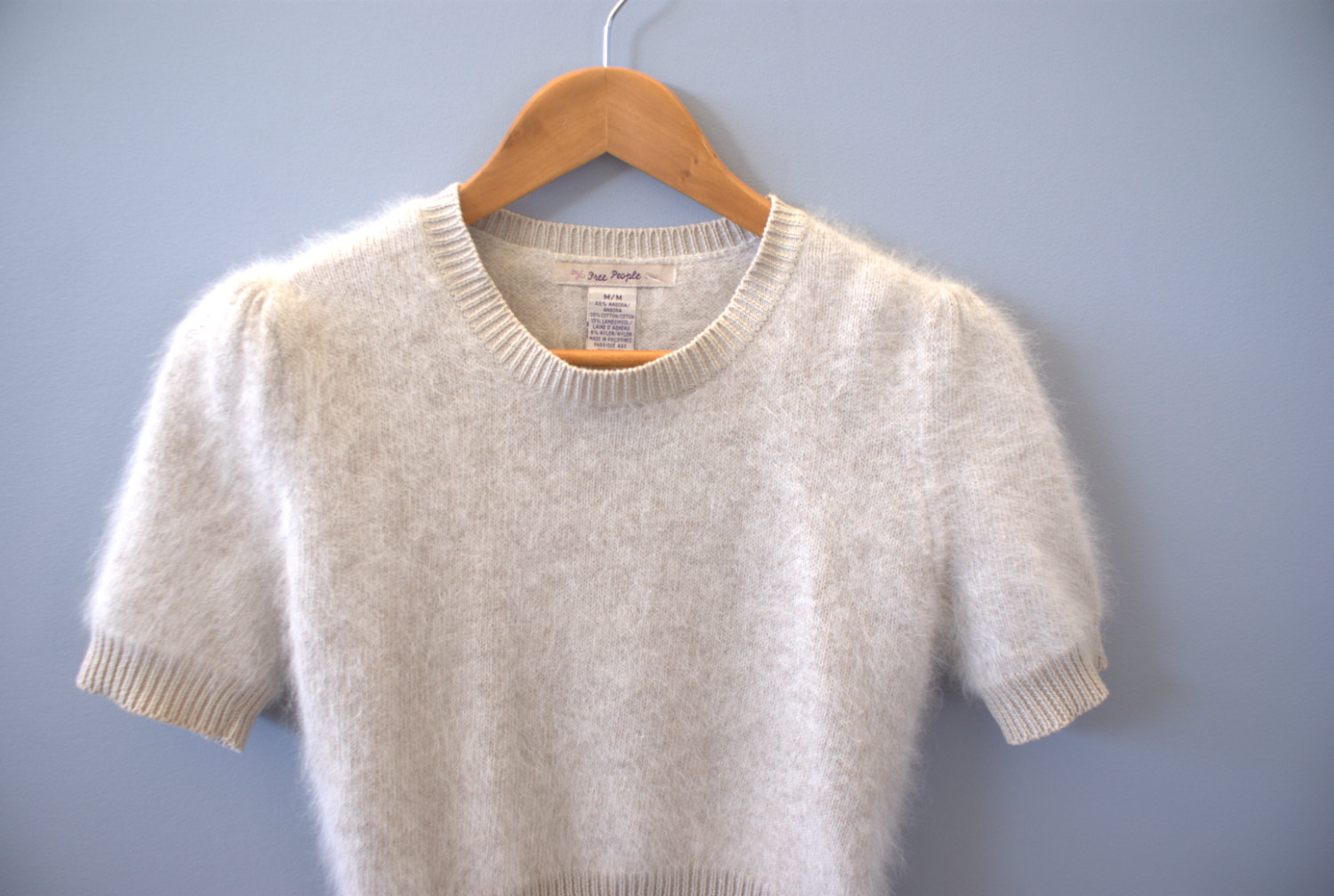 angora girls While this sweater probably isn't angora, i've placed it here because it's so soft it'll appeal to those who like angora it feels like a combination of angora & silk, but since there's no label there's no telling what fibers it's made from.