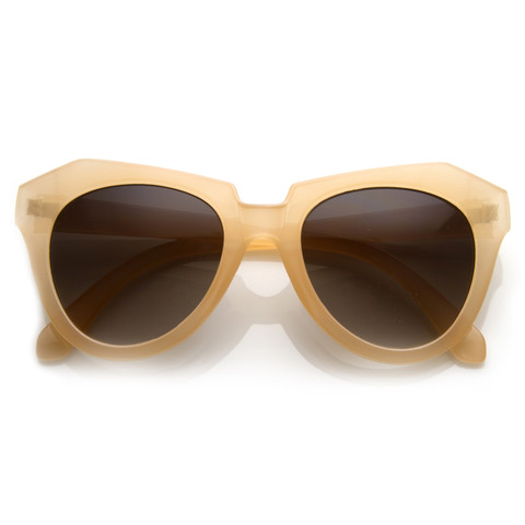 Womens Oversize Fashion Geometric Opaque Sunglasses 8701                           | zeroUV