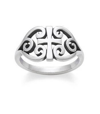 Scroll cross ring