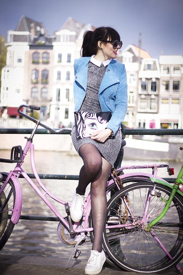 a dash of fash jacket sunglasses dress shoes bag