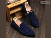 shoes,men blue prom 2016,blue,loafers