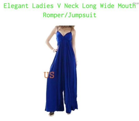 blue retro vintage style fashion elegant sexy casual jumpsuit romper long cardigan very rare, blue halter top wide leg pants see through