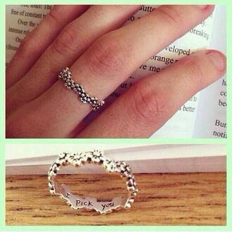 jewels flowers ring cute cute ring i pick you i pick you ring flower ring