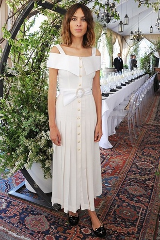 dress alexa chung off the shoulder summer dress