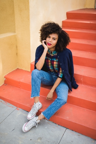 jacket shoes five friday faves (no. 9) blogger top jeans sneakers blue jacket