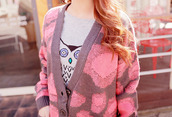 sweater,pink,knitted sweater
