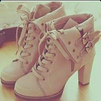 shoes taupe ankle boots heels