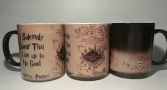 home accessory harry potter marauders map mug harry potter merch heat sensitive mug