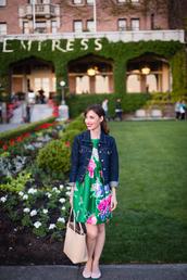 m loves m,blogger,dress,jacket,shoes,bag