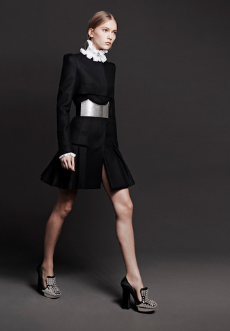 dress fashion lookbook alexander mcqueen belt shirt