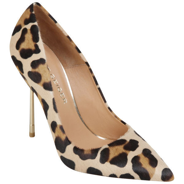 Kurt Geiger Women's Britton Leopard Print Stiletto Heeled Shoes - Polyvore