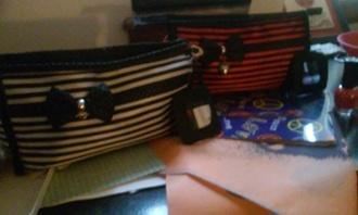 bag stripes mirror tiny dots