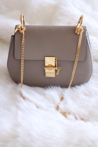 bag chain bag grey bag