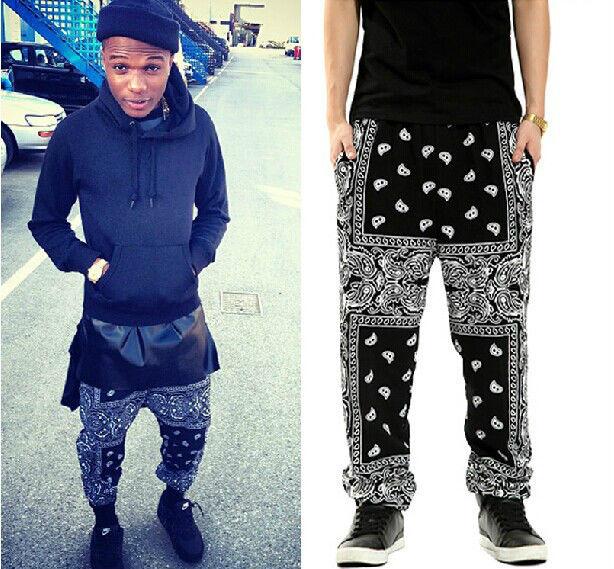 New Bandana Paisley Hip Hop Pants Sport Harem Street Dance Trousers Unisex
