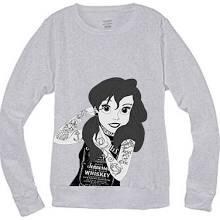 Punk Ariel Little Mermaid Hipster Crewneck Sweatshirt #31