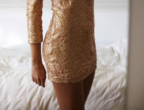 dress sequins sequin dress mini dress gold sequins gold dress