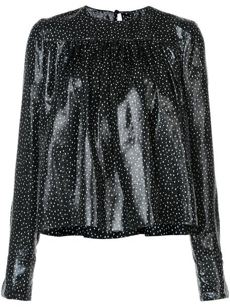 Dvf Diane Von Furstenberg blouse women black silk top