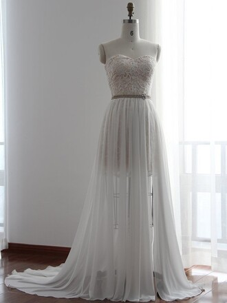 dress wedding dress wedding wedding clothes sweetheart dress lace lace dress white white dress ivory dress maxi maxi dress long long dress fashion style stylish fashion vibe dressofgirl belt tulle dress sparkle vintage princess wedding dresses
