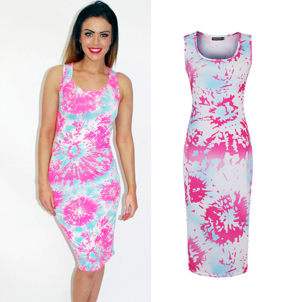 dress pink and blue luxury fashion coachella dress tie dye tie dye dress tie dye parisian sleeveless sleeveless dress summer summer dress summer dress polyvore polyvore polyvore dress pink dress pink light blue summer outfits girly midi dress bodycon celebrity style celebrity style style coachella coachella boho bohemian bohemian dress