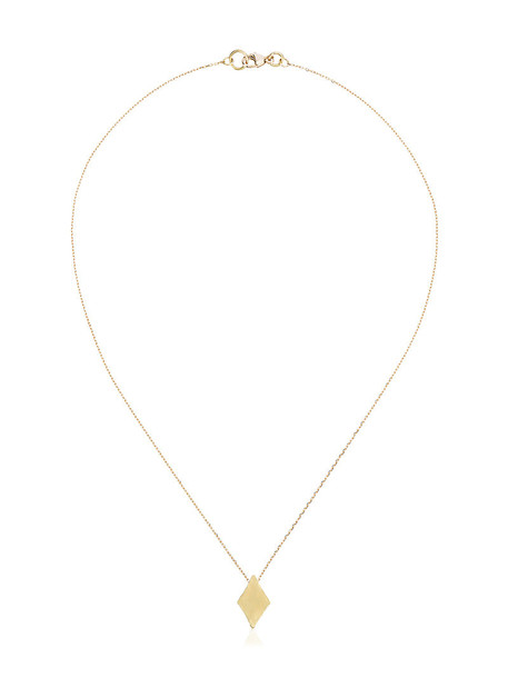 Orit Elhanati women necklace pendant gold yellow grey metallic jewels