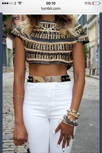 belt jeans shirt