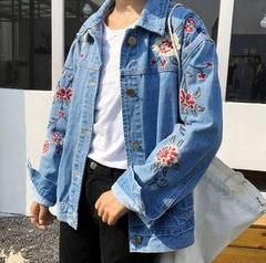 ROSES CUTE EMBROIDERY DENIM JACKET