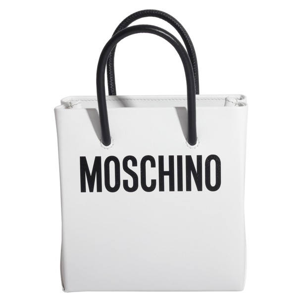 Moschino bag leather bag leather white