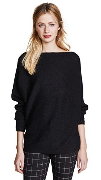 TSE Cashmere sweater asymmetrical black