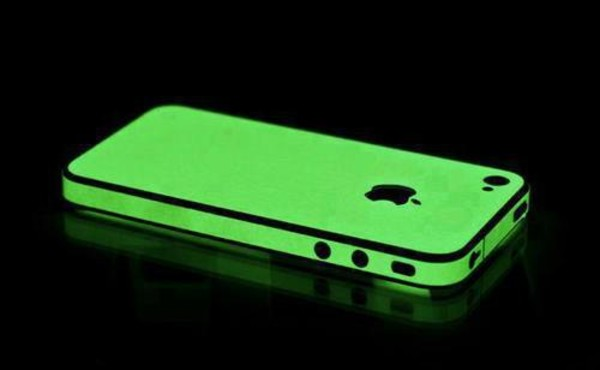 bag case for iphone 4/4s/5 glow in the dark glow in the dark black phone cover