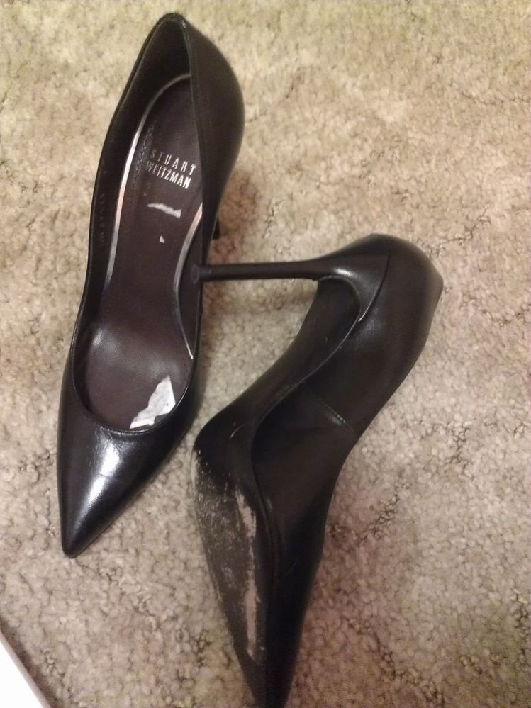 $360 in Stores Now Stuart Weitzman Nouveau Leather Point Toe Pump Size 7 | eBay