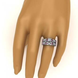 jewels evolees evolees.com flowery design princess cut diamond engagement wedding ring with pink sapphire flowery ring princess cut diamond ring set pink sapphire wedding ring set