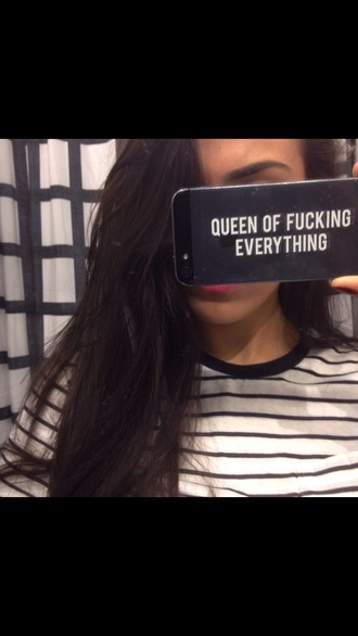 phone cover iphone 5 case queen of fucking everything queen sassy writing