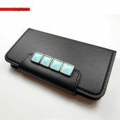 bag,mint,silver,iphone case,iphone 5c,wallet phone case,black,vegan leather