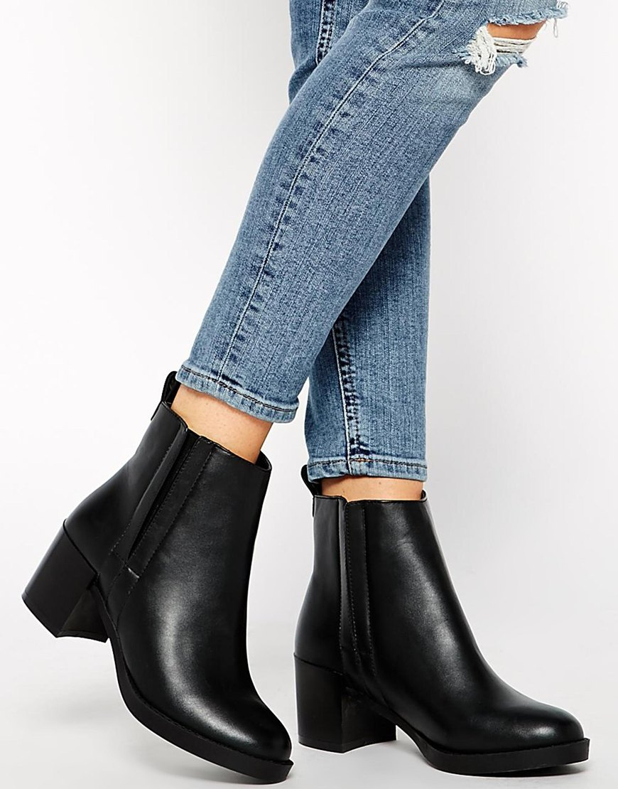 Look Deal Cupped Heel Chelsea Boots at asos.com