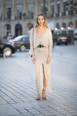 the blonde salad blogger dress belt bag shoes