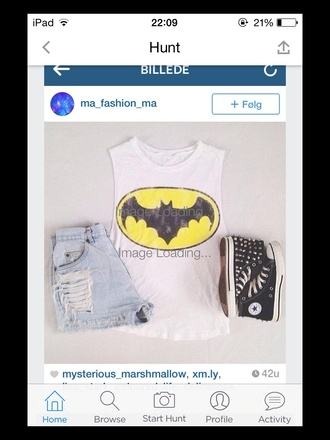 top batman shorts denim shorts