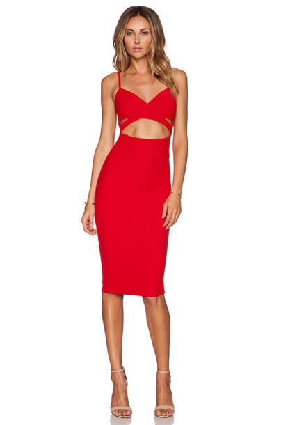 Nookie dress bodycon bodycon dress red
