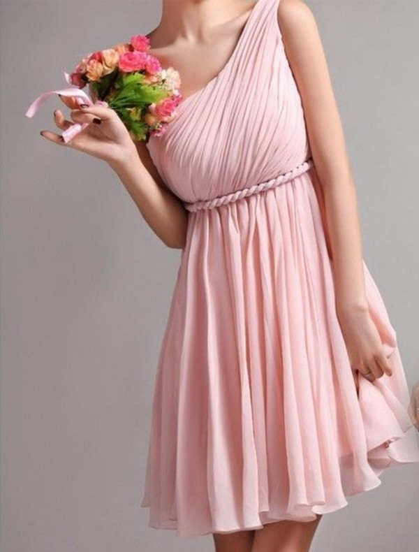 dress pink bridesmaid dress short hot pink dress