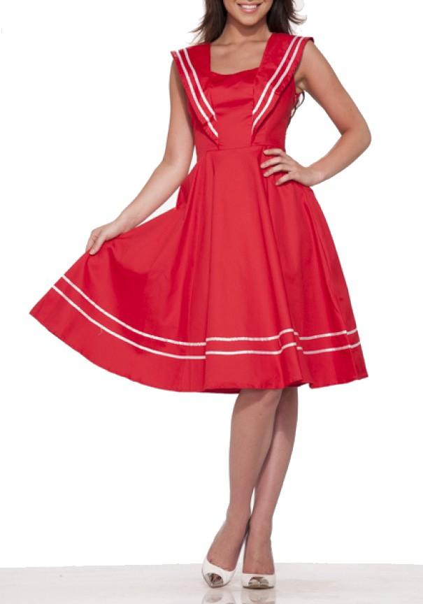 Sailor Collar Sleeveless Short Dress | ReoRia